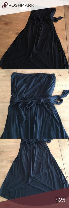 The Limited little black strapless dress Great staple dress. Stunning on! Cinched waist with tie, Tulip hem, strapless, only worn once. Can easily be dressed up or down. EUC The Limited Dresses Strapless