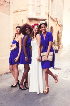 Robes demoiselles d'honneur et mariage civil.  http://poldine-paris.fr  Photo: Caxam