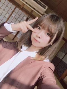 Liyuu Ristuki @ Cosplay's album - Modern Asian Cute, Cute Asian Girls, Beautiful Asian Girls, Cute Girls, Japanese Beauty, Asian Beauty, Japanese Haircut, Cute Kawaii Girl, Cute Japanese Girl