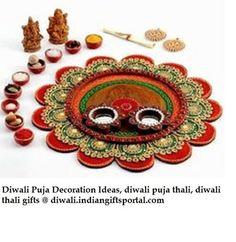 Diwali puja thali decoration