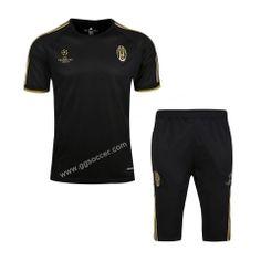 2016-17 Juventus Black Short-sleeved Sweater Uniform