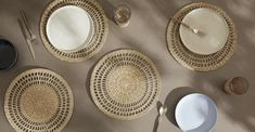 Tacna Set of 4 Woven Seagrass Round Placemats, Natural Natural Interior, Natural Brown, Serving Plates, Interior Styling, Home Furnishings, Decorative Plates, Finding Yourself, Inspiration, Tableware