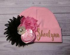 Muchacha del bebé sombrero del bebé llegar a casa por SweetnSparkly