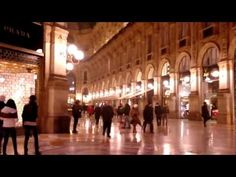 Milan (Milano, Italy), decorated for Christmas (at night) - YouTube