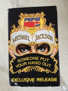 MICHAEL JACKSON Pepsi EXCLUSIVE RELEASE Cassette 1992 Someone Put Your Hand Out