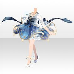 Clothing Sketches, Dress Sketches, Dress Drawing, Drawing Clothes, Fashion Design Drawings, Fashion Sketches, Dress Anime, Anime Outfits, Cute Outfits