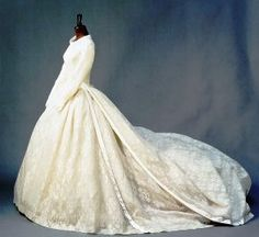 The Royal Order of Sartorial Splendor: Wedding Wednesday: The Duchess of Kent's Gown-the gown on display