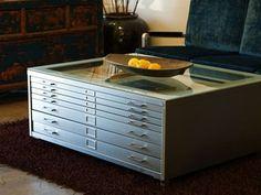 Architect's Flat File Reincarnates As Coffee Table: REHAB Vintage Furniture