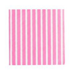 Set of 20 Hot Pink & White candy striped serviettes.