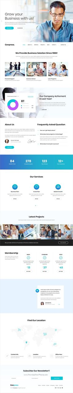 Conpress is clean and modern design 5+ multipurpose responsive #bootstrap template for #corporate business website click on the image to download #webdesign