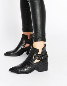 Image 1 ofASOS RELISH Cut Out Pointed Ankle Boots
