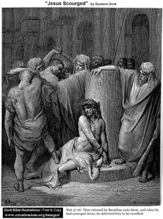 Jesus Scourged.  By Gustave Dore.