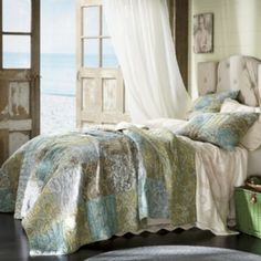 Vintage Paisley Oversized/Reversible Quilt, Sham & Bedskirt from Through the Country Door® Kids Comforters, Paisley Quilt, Bedroom Bed, Seaside Bedroom, Bedroom Ideas, Master Bedroom, Bedrooms, How To Finish A Quilt, Bedroom Styles