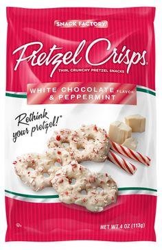 White Chocolate & Peppermint Pretzel Chips