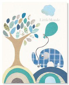 Baby Boy Nursery Prints Nursery Wall Decor Blue and by LittleMonde