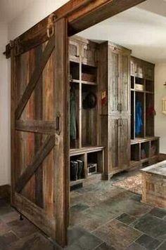 Rustic Mud Room