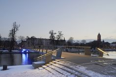 The Tullhus Bridge by Erik Andersson Architects (c) Ake Eson Lindman, Snow-free heated bridge | Norrkoping | Sweden | Transport 2014 | WAN Awards