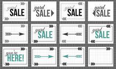 12 free yard sale printable signs