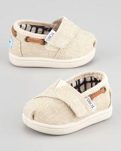 TOMS - Tiny Burlap Bimini Shoe, Natural