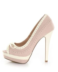 pink lace cutey shoes