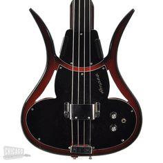 Ampeg Devil Fretless Bass AUSB-1 Sunburst 1968 - Chicago Music Exchange
