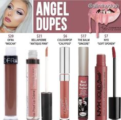Makeup Dupes Kylie Cosmetics Angel Lipstick Dupes [Weihnachtskollektion] Hair Loss: Don't Rule Out a Batons Matte, Gloss Matte, Lipstick Dupes, Liquid Lipstick, Lipsticks, Eyeshadow Dupes, Matte Lipstick, Kylie Lipstick, Colourpop Dupes
