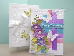 Flowers, Ribbons and Pearls: Tuesday Tutorial - Layered Flowers & Butterflies