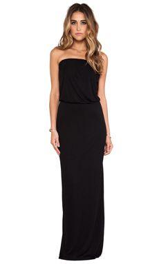 Velvet by Graham & Spencer Tammie New Fine Slinky Dress in Black