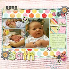 first bath - the Shabby Shoppe Scrapbooking Gallery