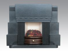 Gazelle Art Deco Fireplace | Fireplace Mantel | Pinterest