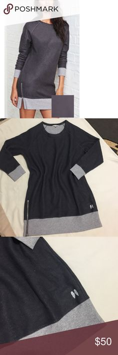Victoria's Secret sweatshirt dress New in a shipping pay. Size L but fits big . So size XL . You can wear it alone or with leggings Victoria's Secret Dresses Midi