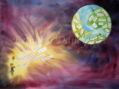 In Christ Original Watercolor by ArtByBethanyDailey on Etsy, $200.00