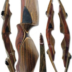Fatal Styk Y Recurve with Cocobolo and Bocote handle and limbs with Cocobolo tips