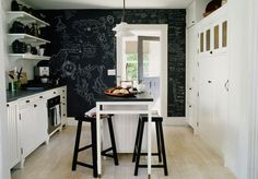 Wow...I would love to paint one wall in my daughter's bedroom with that chalkboard paint.