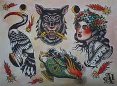 Traditional Tattoo Flash   KYSA #ink #design #tattoo