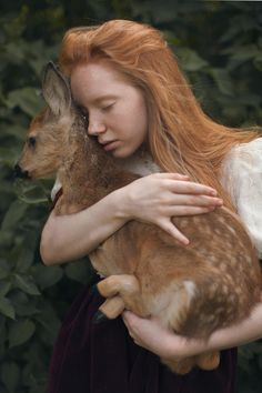 Russian photographer Katerina Plotnikova created these stunning images with the help of real live animals! beautiful!