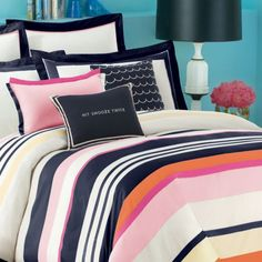 Kate Spade bedding @ Bed Bath and Beyond. Great colors.