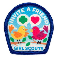 INVITE A FRIEND SEW-ON PATCH (for girls who refer a friend to the troop?)