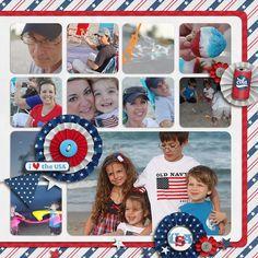 patriotic scrapbook Layout by YepBrook