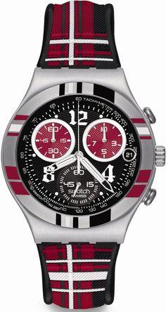 Swatch Men's Irony YCS504 Black Resin Quartz Watch