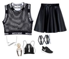 """""""Time to think"""" by alyshakay on Polyvore featuring Moschino, MSGM, NIKE, Eva Fehren and Marc Jacobs"""