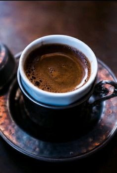#coffee in a beautiful cup.