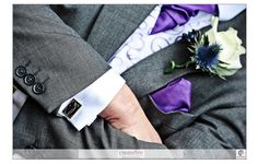 Sentimental details are not just reserved for the bride. The grooms choice of grandads cufflinks makes a touching tribute. -  Copyright Crossfire Photography - http://www.crossfirephotography.co.uk - http://www.crossfirephotography.co.uk/detail-gallery.html