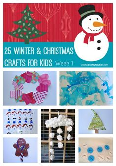 25 Christmas / winter Crafts for Kids Week 1 25 Winter and Christmas Crafts for Kids Christmas Crafts For Toddlers, Toddler Christmas, Christmas Crafts For Kids, Toddler Crafts, Preschool Crafts, Winter Christmas, Holiday Crafts, Holiday Fun, Christmas Holidays