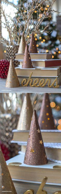 Paper Cone Lantern Christmas Trees