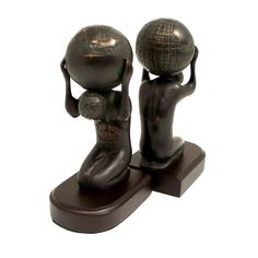 Bey Berk Atlas with Globe Bronze Cast Bookends