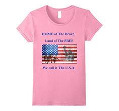 Womens Patriotic USA T-shirt Home of The Brave Land of Th... https://www.amazon.com/dp/B071WQX1N6/ref=cm_sw_r_pi_dp_x_NBAozbS3EK9CT