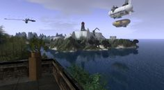 Lands to the South, Castle Wulfenbach, Spring 2014 Second Life, Spring 2014, Minions, Fighter Jets, Aircraft, Castle, Aviation, Plane, Airplanes
