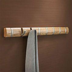 Umbra Flip wall-mount 8 hook coat rack - Natural | eBay