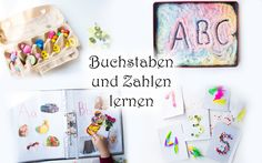Die schönsten Ideen und selbstgemachte Spiele zum Buchstaben und Zahlen spielerisch mit Kindern lernen ❤️